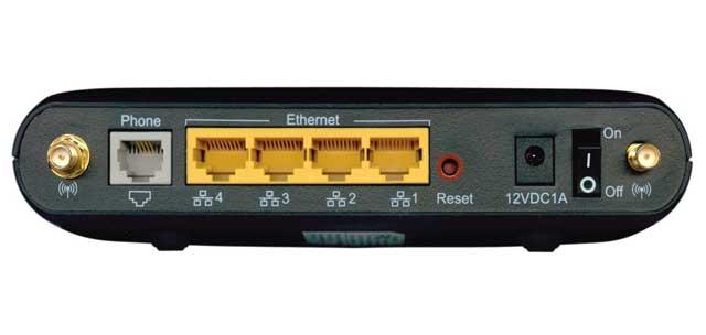 Actiontec GT784WN DSL Modem-Router Connections